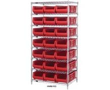CHROME WIRE SHELVING UNITS WITH HULK CONTAINERS